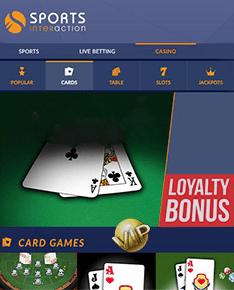 sports interaction casino + bonus pokergrump.com